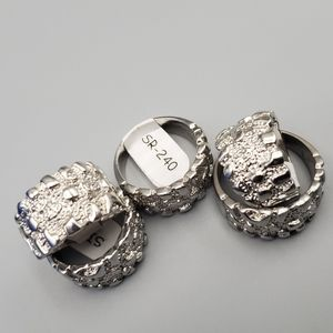 Nugget silver color rings